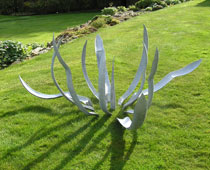 Hand forged steel Agave sculpture by ironvein.com