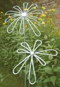Steel daisy sculptures garden art
